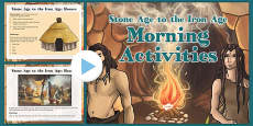 1 Week UKS2 Stone Age to the Bronze Age Themed Morning Activities PowerPoint