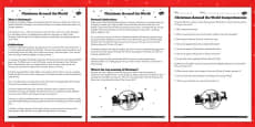 Christmas Around the World Differentiated Reading Comprehension Activity