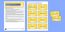 The Curious Incident Character Cards Pack