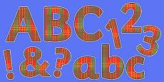 Display Lettering & Symbols (Tartan)