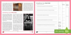 Extraordinary Lives: Anne Frank Differentiated Reading Comprehension Activity