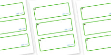 Yew Tree Themed Editable Drawer-Peg-Name Labels (Blank)