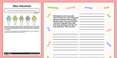 Linking Paragraphs Using Adverbials - Application Activity Test