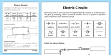 Electric Circuits Activity Sheet