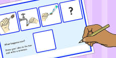 What Happens Next? Fill in the Blank Activity Sheet for 'Brushing Teeth'