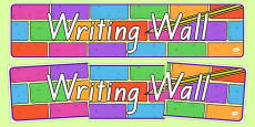Writing Wall Display Banner NZ Font