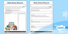 PlanIt - Computing Year 5 - Radio Station Unit Home Learning Tasks