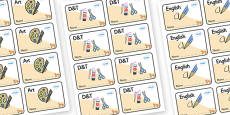 Fox Themed Editable Book Labels