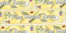 Fine Motor Area Banner