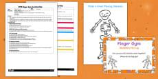 EYFS Skeleton Mix Up Finger Gym Plan and Prompt Card Pack