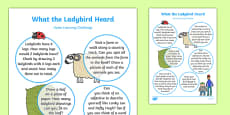 Home Learning Challenge Sheet Reception FS2 to Support Teaching on What the Ladybird Heard