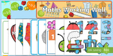 * NEW * EYFS Reception Maths Working Wall Display Pack