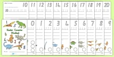 Number Formation Workbook Dinosaurs NZ