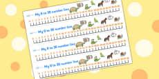 0-30 Number Line (Pets)