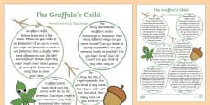 Home Learning Challenge Sheet Reception FS2 to Support Teaching on The Gruffalo's Child