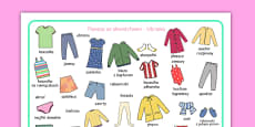 Clothes Word Mat Polish