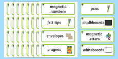 Rowan Tree Themed Editable Writing Area Resource Labels