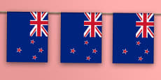 New Zealand Flag Display Bunting