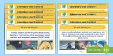 Literature Content Descriptions Literature and Context Display Posters