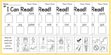 I Can Read! Phase 3 Words Activity Sheet