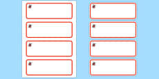Ladybird Themed Editable Drawer-Peg-Name Labels (Colourful)