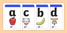 Large Phase 1 (A-Z) Mnemonic Image / Word Cards