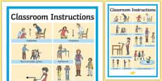 Classroom Instructions Word Grid German / Deutsch