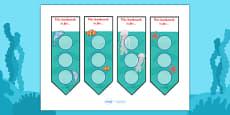 Under The Sea Sticker Reward Bookmarks (30mm)