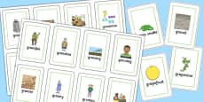 Two Syllable GR Flash Cards