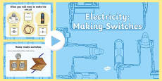 Year 4 Electricity Making Switches Teaching PowerPoint