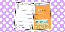 Australia - The Farmer and His Sons Trace the Words Activity Sheets