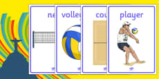 Rio 2016 Olympics Beach Volleyball Display Posters