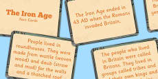Amazing Iron Age Display Fact Cards