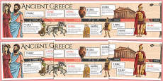 Ancient Greece Display Timeline