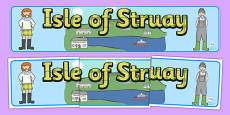 Isle of Struay Display Banner to Support Teaching on Katie Morag