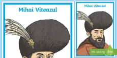 * NEW * Mihai Viteazul Planșă cu diferite dimensiuni