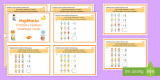UKS2 MojiMaths 3 Fractions Addition Differentiated Challenge Cards