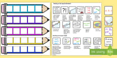 End of KS1 Expectations - Writing Editable Pencil Cards