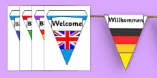 Mixed Languages Welcome Bunting