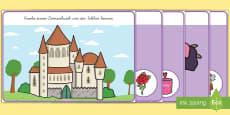 Dornröschen: Bilder zum Ergänzen Knetunterlagen