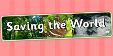 Saving the World Photo Display Banner