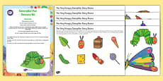 Caterpillar Fun Sensory Bin and Resource Pack To Support Teaching on The Very Hungry Caterpillar
