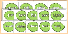 KS1 Keywords on Spring Leaves
