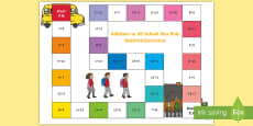 Addition Bus Board Game English/Mandarin Chinese