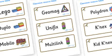 Sparrow Themed Editable Construction Area Resource Labels