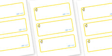 Chicks Themed Editable Drawer-Peg-Name Labels (Blank)