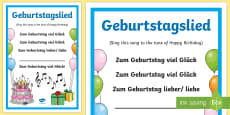 Birthday Song Lyrics German
