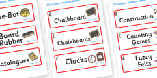 Puffin Themed Editable Additional Classroom Resource Labels