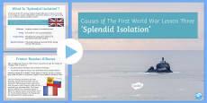 Britain and Splendid Isolation PowerPoint