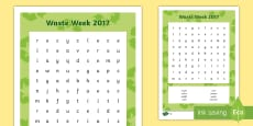 Waste Week 2017 Differentiated Word Search